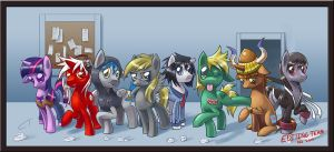 COMMISSION Editing Team by CyberToaster