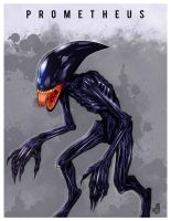 Prometheus alien by Mydole