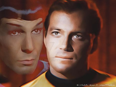 Watching Over You: Kirk and Spock by Ljoyce12