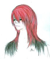 Red haired girl by Maxisamut