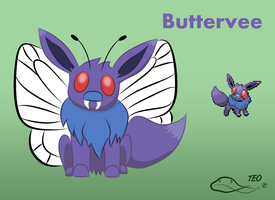 Pokemon Fusion - Buttervee by The-Emerald-Otter