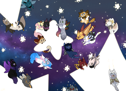 count the cats amoung the stars by fanface