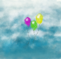 Balloons in the sky by LARockSaints