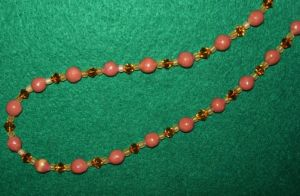 Brown hand made clay necklace by ladytech