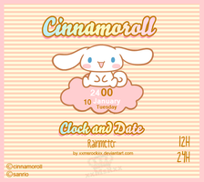 Cinnamoroll Clock and date by xxmsrockxx