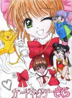 Cardcaptor Sakura group-colour by Xiao-Lang