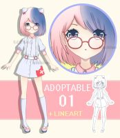 Auction Adoptable +Lineart [OPEN] by Accera
