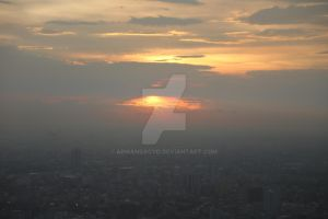 Sunset in Bangkok by Armandacyd