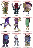 Chibi - Avengers Villains by Juggertha