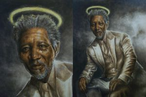 Morgan Freeman by Lewis3222