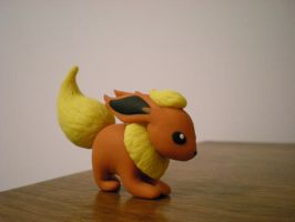 Flareon Clay by Foureyedalien