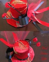 Red Silk Top Hat by mad-hatter-inc