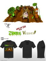 Zombie Veggies T shirt by CJRogue