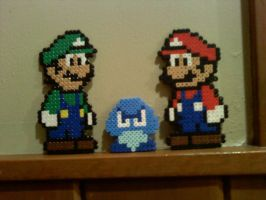 Mario and Luigi vs. Goomba by dylrocks95