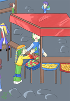 Buying apples XD by totodos