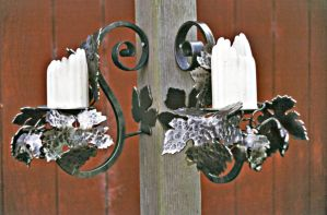 Grape Candelabra,pair by ou8nrtist2