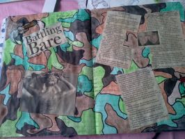 Art journal:pages 4 and 5 battling bare by Notebook-Queen