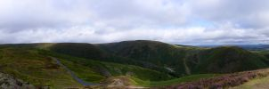 Long Mynd Panorama III by adamlack