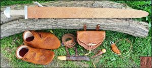 Viking leatherwork by Half-Goat