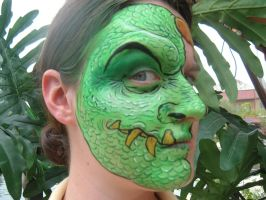 Face Paint- Dragon Face ONE by Jshibby