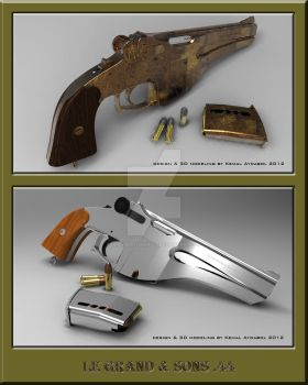 LE GRAND and SONS.44 pistol_ALTERNATE VERSIONS by dreamdesigner442