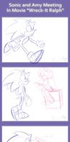 .:Sonic and Amy Meeting:. by PhoenixSAlover