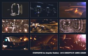 Starfighter inc Concepts by JamesLedgerConcepts
