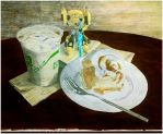 20160108 - Still Life With Breakfast and Toy Robot by Cyberpumpkin