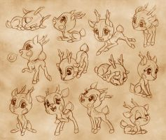 deerling pose sheet by lilibz