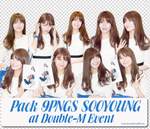 Pack 9PNGs SooYoung at Double-M Event by hwangjungmina