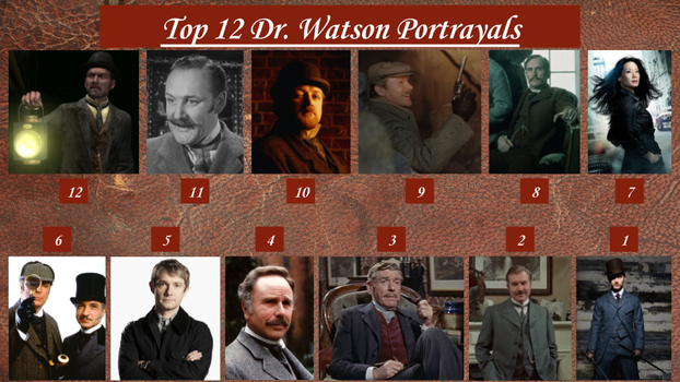 Top 12 Dr. Watson Portrayals by JJHatter