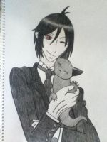 Sebastian and his Favorite Kitty by CoLoRs-ArE-mY-fRiEnD