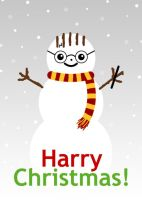 Harry Christmas Card by hellohappycrafts