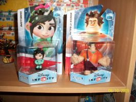 Wreck it Ralph and Vanellope by sinako777