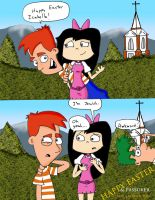 PnF Happy Easter Comic by AJMSTUDIOS