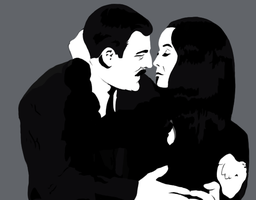 Mr. and Mrs. Addams by kelynneishere