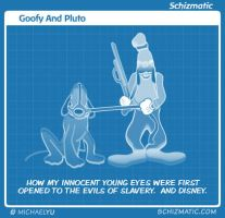 Goofy And Pluto by schizmatic