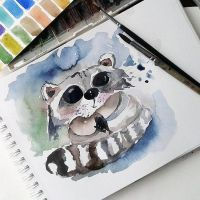 racoon by bemain