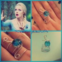 Elsa inspired ring by Sweetfairytalecrafts