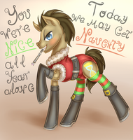 Xmas Doctor Whooves by CountAile