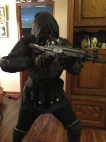 Resident Evil Vector cosplay (Pre-O.R.C.) W.I.P by Rising-Darkness-Cos