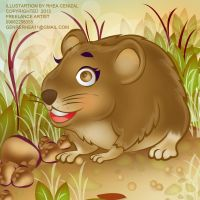 Vole friend by Rheasan