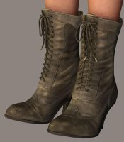WIP 2 Victorian Boots by LadyLittlefox