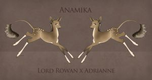 Fawn Design |Anamika | Lord Rowan X Adrianne by LiddleCherry