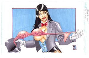 Zatanna Magic Trick by daikkenaurora