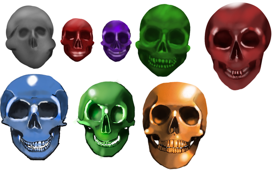 Skull and Rendering Evolution by Cestarian