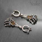 Elody | Wire-wrapped earrings with tourmaline by YeskeCrafts