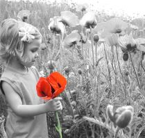 Child with a Poppy by SunStar1111