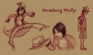 Homburg Molly Sketch by SilvaraDragon