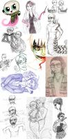THE SKETCH DUMP TO END ALL SKETCH DUMPS by JeebusOfTheSwatKats